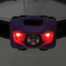 Mini 600LM 3x R4+2 RED LED Head Headlamp Headlight Lamp Flashlight Torch Purple