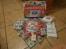 PARKER BROTHERS STAR WARS THE CLONE WARS--MONOPOLY GAME BOARD GAME (LOOK)