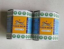 2 x White TIGER BALM LARGE JARS 30 Gramme Muscular Body Pain Relief Post FREE