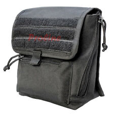 BLACK Molle Tactical Large Binocular Pouch Utility Storage Camera Pouches