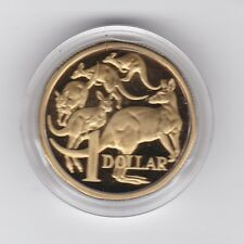 1984 Australia $1 Proof Coin Kangaroo in capsule