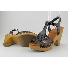 Indigo Rd. Kokko Women US 7.5 Black Platform Sandal Pre Owned  1110
