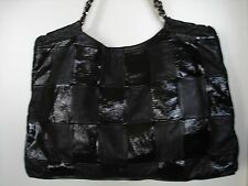 CHANEL JUMBO HANDBAG  BLACK PATCHED TOTE  OVERSIZED BAG 100% AUTHENTIC