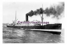 rs0193 - Union SS Co Liner - Tahiti , built 1904 sinking in 1930 - photograph