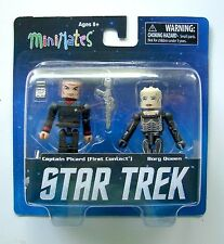 Star Trek Legacy Minimates Series 1 Captain Picard Borg Queen 2-pack figures