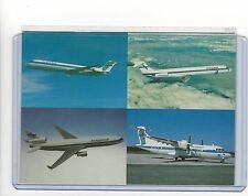Finnair airlines issued 1991 fleet multi view cont/ postcard