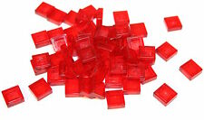 60x LEGO® Fliese/Kachel 1x1 3070b NEU Transparent Rot Trans Red