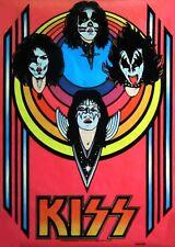 1976 KISS band black light poster replica magnet - new!