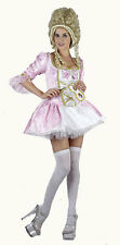 PINK VENETIAN DRESS FRENCH MASQUERADE BALL LADIES FANCY DRESS COSTUME OUTFIT NEW