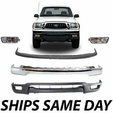 New Complete Front Bumper Combo Kit With Fog Lights For 2001-2004 Toyota Tacoma