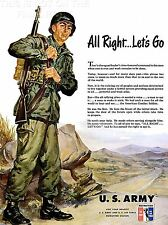 ART PRINT POSTER ADVERT 1951 US ARMY KOREAN WAR RECRUITMENT NOFL1482