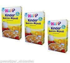 (23,95€/kg) 3x 200g Hipp Kinder Beeren Müesli Müsli ohne Zuckerzusatz 1-3 Jahre