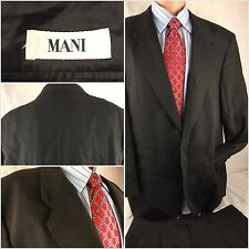 Mani Suit 42R Gray Glen Plaid 2btn 34x32 Pleats 42 R Made in Italy YGI 20hh