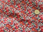 Liberty Tana lawn (100% cotton) fabric, 'Betsy Ann' in reds 1.70 metres