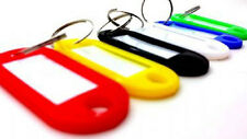 KEY ID TAGS ASSORTED COLOURED FOB RING IDENTIFIERS NAME CARD PLACTIC TAG LABELS
