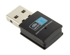 WiFi Wireless Adapter 300Mbps USB 2.0 Hi-Speed 2.4GHz Receiver Dongle 802.11 LAN
