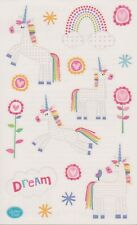 Mrs. Grossman's Giant Stickers - Dreamy Unicorns - Rainbows & Flowers - 2 Strips