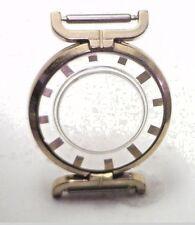 NOS Antique Vintage Women's 10k Yellow RGP See Through Wrist Watch Case #UM26