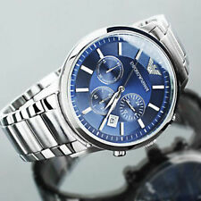 Emporio Armani AR 2448 Blue Dial Chronograph Wrist Watch for Men