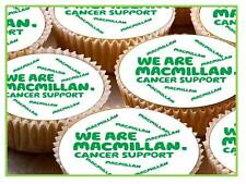 24 x 40mm Macmillan Logo Cancer Support Fairy Cup Cake Toppers Edible Rice Paper