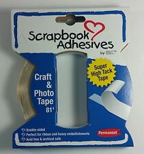 Scrapbook Adhesive Craft & Photo Tape Double-sided Acid Free Archival ~ 81 FEET