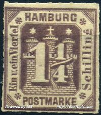 ALLEMAGNE HAMBOURG N° 22 NEUF * AVEC CHARNIERE