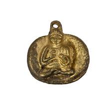 Oro Antiguo Buda Meditando sentado Colgantes 22mm se vende como un paquete de 1 (C85/6)