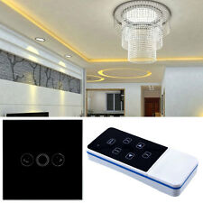 Light 1 Gang Touch Remote Control Dimmer Crystal Glass Panel Switch AU