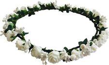 Blossom Rose Flower Tiara Party Beach Casual Fashion Hair Accessories White