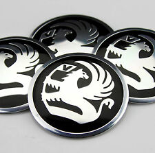 "4x 56mm 2.2"" Auto Car Wheel Center Hub Cap Emblem Badge Decal Sticker for Black"
