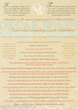 POSTER: OSCAR WILDE QUOTES / SAYINGS - FREE SHIPPING  #FPO475  LW21 i