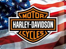 Harley Davidson USA Logo Blechschild Schild Blech Metall Tin Sign 30 x 40 cm
