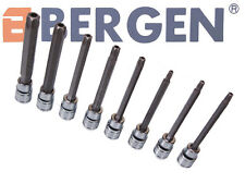 BERGEN Tamper Proof Torx TRX Socket Bit Tool Set T25 -T60 - 110mm Long A1173