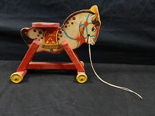 Vintage Fisher Price Dandy Dobbin #765 Classic Antique Wooden Horse