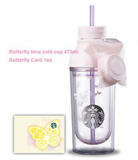 Starbucks Korea 2017 New Pink Butterfly lena cold cup 473ml 1ea + Card 1ea SET