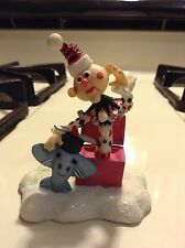 Rudolph The Red Nosed Reindeer Enesco Charlie In The Box #725099 EUC