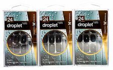 Pretty Woman Droplet Black Fake Nails with Glue WN016 3 Packs