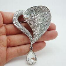 Bride Fashion Lily Flower Bride Rhinestone Crystal Wedding Brooch Pin Pendant