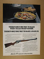 1978 Marlin 336 Rifle west texas fried venison recipe photo vintage print Ad