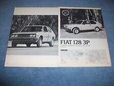 """1977 Fiat 128 3P Vintage Road Test Info Article """"A Pleasant Hatchback Successor"""