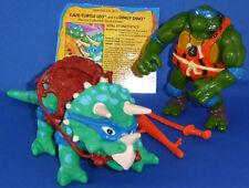 1993 Turtles TMNT figure Cave Turtle Leo & Dingy Dino 100% complete