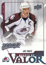 08-09 UPPER DECK MVP MARKED BY VALOR #MV2 JOE SAKIC AVALANCHE *8193