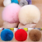Rabbit Fur Ball PomPom Cell Phone Car Keychain Handbag Charms Key Ring Pendant