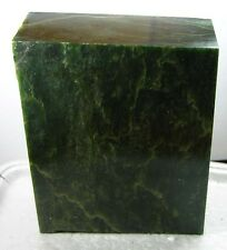 3515g BC Canada 100% Natural Raw Rough Green Jade Block Chunk Specimen 7.75 lb