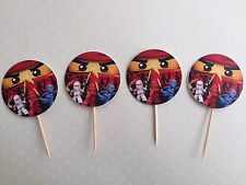 12 x Lego Ninjago Cupcake Topper Fruit Jelly Cup Toppers