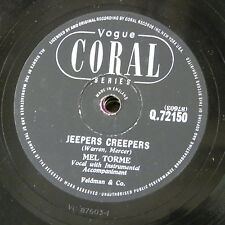 78rpm MEL TOURME jeepers creepers / mountain greenery