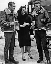 Steve McQueen and Robert Wagner Off Set BW 10x8 Photo