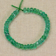 "3mm-3.3mm Colombian Emerald faceted Rondelles Beads 3"" Strand"