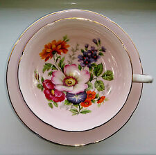 ROYAL GRAFTON Vintage Bone China Cup and Saucer Duo Pink Gold Flowers 2 of 2