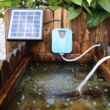 USB 5V Solar Powered Oxygenator Pond Water Oxygen Pump +1 Air Stone Aerator B0R9